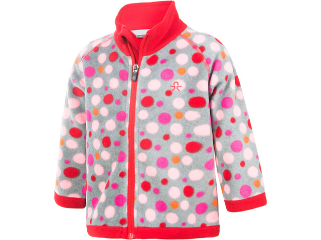 Color Kids Tugo Mini 2 Face Fleece Chaqueta Niños, racing red